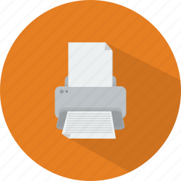 computer, document, print out, printer, technology icon