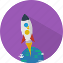 concept, education, research, rocket, science, space, startup icon