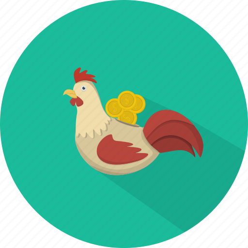 business, chicken, finance, marketing, moneybox, saving money icon