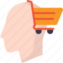 business, cart, human, shopping icon