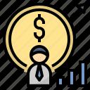 businessman, economist, entrepreneur, financial, investor icon