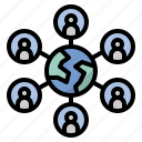 collaborate, group, internet, network, team icon