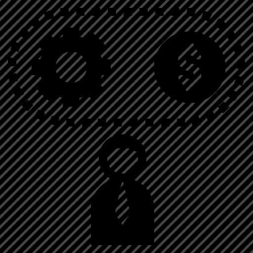 Businessman, entrepreneur, investor, management, process icon - Download on Iconfinder