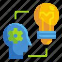 brainstorm, bulb, businss, creativity, head, idea, think