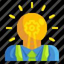 bulb, business, idea, innovation, inspiration, man, thought