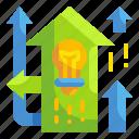 arrow, bulb, idea, new, newway, opportunity, way
