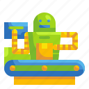 automatic, business, factory, industry, machine, robot, robotic icon