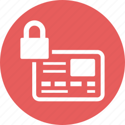 credit card, loan protection, secure payment icon
