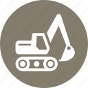 business equipment, equipment insurance, excavator icon