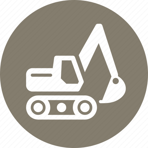 business equipment, equipment insurance, excavator icon
