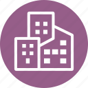 commercial property, office, property insurance, real estate icon