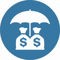 business insurance, investments insurance, money insurance icon