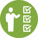 check mark, checklist, insurance audit, tasks done icon