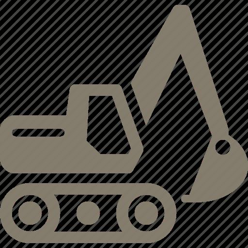 business, equipment insurance, excavator icon