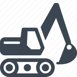 business, equipment insurance, excavator icon