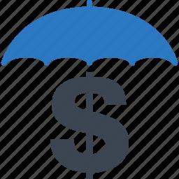 business insurance, money insurance, protection, umbrella icon