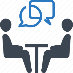 business meeting, interview, legal assistance, teamwork icon