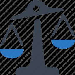 balance, risk analysis, risk evaluation, scale icon