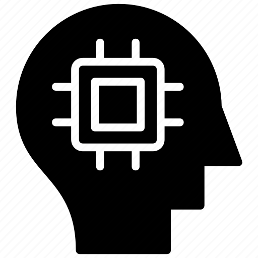 artificial intelligence, brain activity, brain processing, data processing, mind processing icon