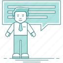 businessman, chat, communication, conversation, employee icon