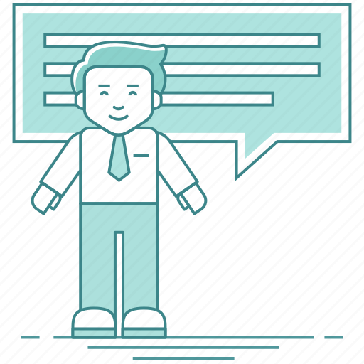 businessman, chat, communication, conversation, employee icon