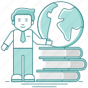 book, knowledge, learning, reading, school, student, study icon