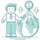 business, exchange, finance, global, income, money, transfer, turnover icon