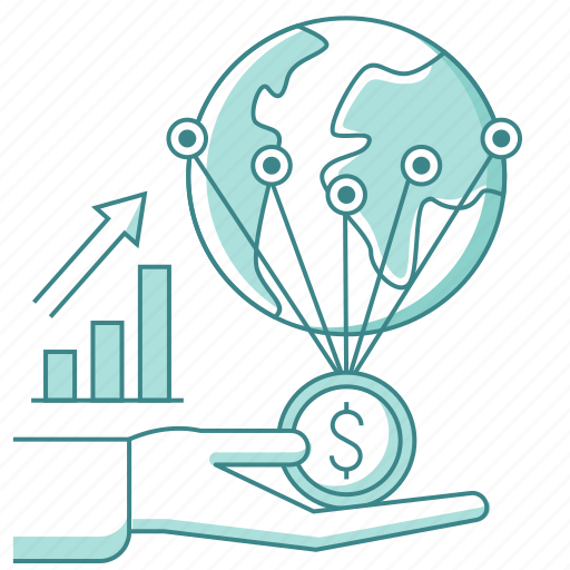 fund, fundraising, global business, growth, money, network, profit, world icon
