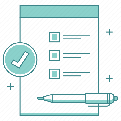 cardboard, checklist, items, list, notepad, pen icon