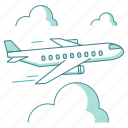airplane, business, flight, logistics, plane, transportation, travel, trip icon