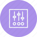 business, control, internet, lifestyle, music, office, settings icon