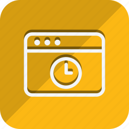 browser, business, clock, communication, marketing, networking, office icon