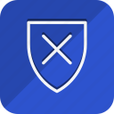 business, communication, marketing, networking, office, shield, unlock icon