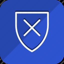 business, communication, marketing, networking, office, shield, unlock icon