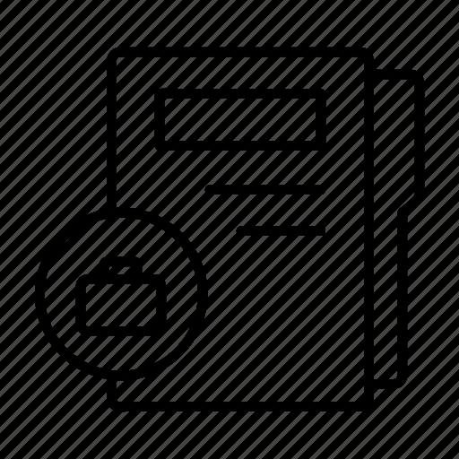 business data, business folder, document, profile, record icon