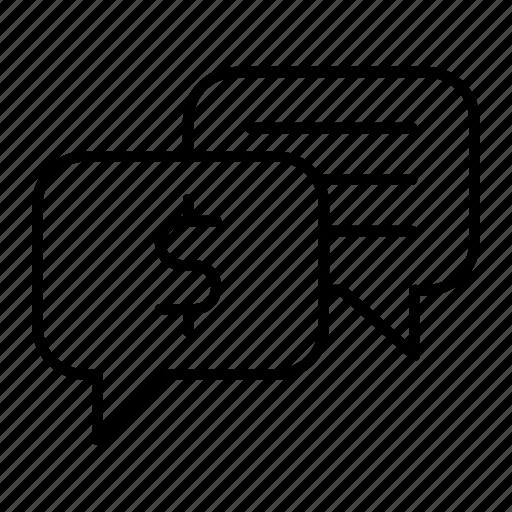 business, chat, communication, conversation, talk icon