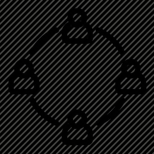 community, group, management, network, organization, team icon