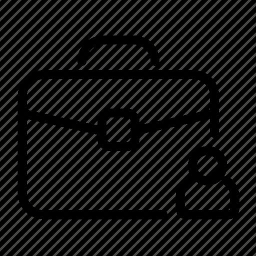 account, briefcase, customer, portfolio, profile icon