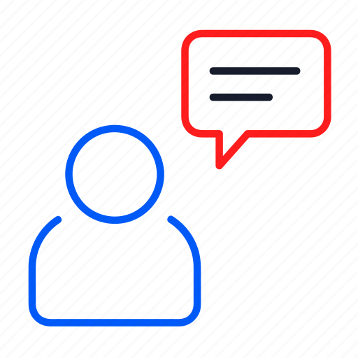 business, chat, message, online, talk, user icon