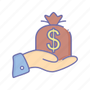 business, dollar, management, money icon
