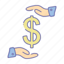business, dollar, management, payment icon