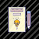 business, idea, management, pencil icon