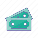 business, dollar, management, money, note icon