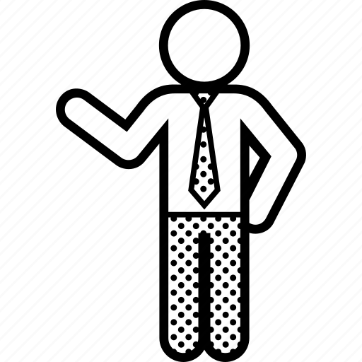 business, executive, man, pose icon