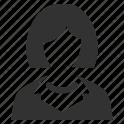 avatar, businesswoman, lady, teacher, user, woman icon
