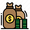 capital, investment, loan, money, venture icon