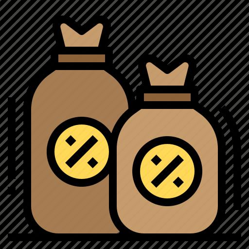 banking, interest, loan, money, percentage icon