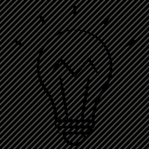bulb, education, idea icon