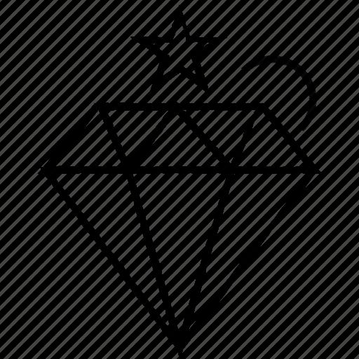 diamond, jewel, stone icon