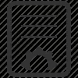 blog, content management, copywriting, development, document, file, gear icon